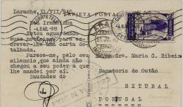 02290 Marruecos Español Tarjeta Postal Censurada Enviada De Larache A Portugal - Maroc Espagnol