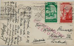 02299 Marruecos Español Tarjeta Postal 1939 Con Censura Tetuan Enviada A Alemania - Marruecos Español