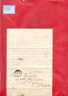 Lettre Du 8 Avril 1851 De Strasbourg Pour Bourges - Storia Postale