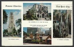 United States,  Famous Churches Of New York City, 1968. - Églises