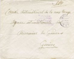 BR 503 BRIEF VAN HARDERWIJK NAAR GENEVE 8 V 15 MILITAIRE POST   ZIE SCAN - Lettres & Documents