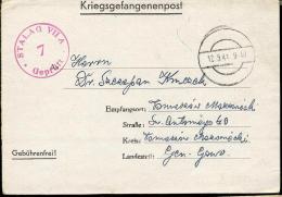 Pologne. Stalag VII A, Censeur 7, Carte-Lettre > Tomaszow Mazowiecki - Gefängnislager