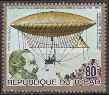 Timbre PA Neuf ** N° 257(Yvert) Tchad 1983 - Ascension D´un Homme En Ballon, Giffard - Tsjaad (1960-...)