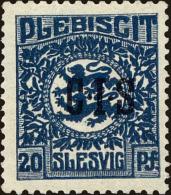 Schleswig Scott #O6, 1920, Hinged - Schleswig-Holstein