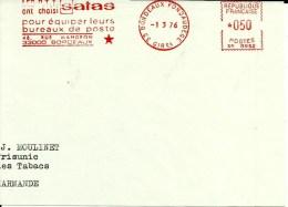 Lettre EMA  Les PTT Ont Choisi SATAS  Bureaux De Poste Sciences   B 405 - Post