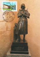 Maison De Jeanne D'Arc -Y&T 3002  Premier Jour 11 Mai 1996 Sur Carte Statue Bronze De Jeanne D'Arc - Cartes-Maximum