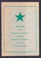 EXTRA9-53 POST CARD - Esperanto