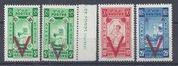 ETHIOPIE - 1945 -  CROIX ROUGE SURCHARGES N° 240 */** (X2) - 241* - 242* - NEUFS - TB - - Ethiopie