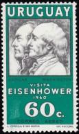 URUGUAY - Scott #C205 Visit Of President Eisenhower / Mint NH Stamp - Uruguay