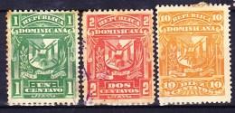 REPUBLIQUE DOMINICAINE 1895 YT N° 78, 79 Et 81 Obl. - Repubblica Domenicana