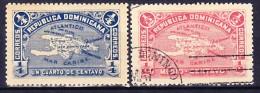 REPUBLIQUE DOMINICAINE 1900 YT N° 93 Et 94 Obl. - Repubblica Domenicana