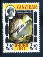 Zanzibar 1964 Jamhuri 1964 Handstamped - 2/50 Towards The Light LHM - Zanzibar (1963-1968)