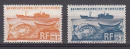 """St. Pierre & Miquelon 1947 Mi Nr  360 + 361 Trawler """"Colonel Pleven"""" - St.Pierre & Miquelon"""