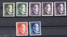 ALEMANIA REICH .  AÑO 1942.  Mi 799/802 - Y 723/725  (MNH) - Alemania
