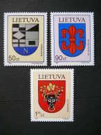 Lietuva Litauen Lituanie Litouwen Lithuania 1997 MNH # Mi. 652/4 Coats Of Arms - Lithuania