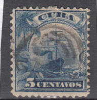 "Cuba Bezetting USA 1899 Mi Nr 4 Schip  ""Umbria"", Taro - Cuba"