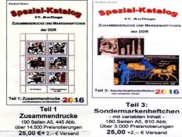 DDR Katalog #1 Zusammendrucke Plus #3 Sonder-Markenhefte 2016 Neu 50€ RICHTER Se-tenant+carnet Special Catalogue Germany - Unclassified