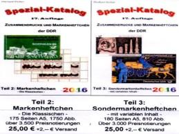 DDR Kataloge #2 Standard-Markenhefte Plus #3 Variable SMH Neu 50€ In RICHTER Booklets+carnets Special Catalogues Germany - Personen