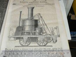 American America USA Dampfmaschine Steam-engine  Machine E Vapeur Engraving Print 1838!!! - Prints & Engravings
