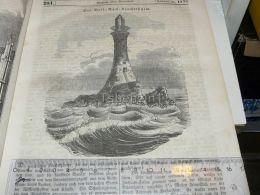 Bell Rock Lighthouse Angus Scotland  Leuchtthurm Engraving Print 1838!!! - Prints & Engravings