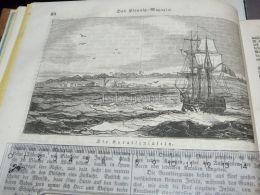 Koralleninseln Coral Islands Iles De Corail Ship Schiff Engraving Print 1838!!! - Prints & Engravings