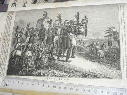 Hindu Pilger Pelerins Hindous Hindu Pilgrims India Engraving Print 1838!!! - Prints & Engravings