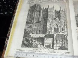 Durham Cathedral England Engraving Print 1838!!! - Prints & Engravings