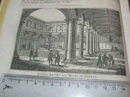 London Brand Of Publicly Brand Der Börse  England Engraving Print 1838!!! - Prints & Engravings