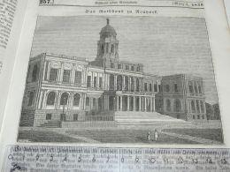 Town Hall New York USA America Engraving Print 1838!!! - Prints & Engravings
