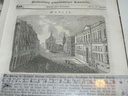 Madrid Spain Engraving Print 1838!!! - Estampas & Grabados