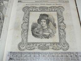 Queen Maria Marie Christine Of Spain Engraving Print 1838!!! - Estampas & Grabados