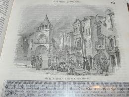 Elvas Portugal Engraving Print 1838!!! - Estampas & Grabados