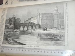 Delhi India Palace Elefant Elephant Engraving Print 1838!!! - Prints & Engravings