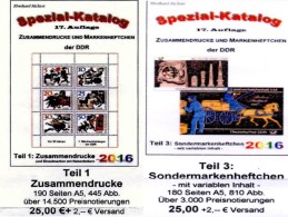 DDR Katalog #1 Zusammendrucke Plus #3 Sonder-Markenhefte 2016 Neu 50€ RICHTER Se-tenant+carnet Special Catalogue Germany - Telefonkarten
