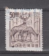 Korea Zuid 1963 Mi Nr  391 Wild In Het Bos, Wild In The Forest - Korea (Süd-)