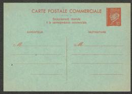 Entier Postal (014) 80 C Rouge Type Pétain . Carte Postale Commerciale Neuve - Entiers Postaux
