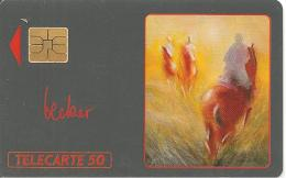 CARTE-PRIVEE-PUBLIC-MONACO-50U-ME 04-04/91-RANDONNEE-Becker-UTILISE-TBE - Monaco
