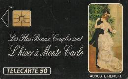 CARTE-PRIVEE-PUBLIC-MONACO-50U-ME 06-04/91-DANSE A La VILLE-UTILISE-TBE - Monaco