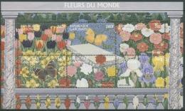 Gabun 1997 Blumen Und Insekten Kleinbogen 1381/86 K Postfrisch (C26514) - Gabun (1960-...)