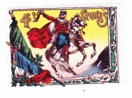 Vignette Militaire Delandre - 4ème Régiment De Spahis - Erinnofilia