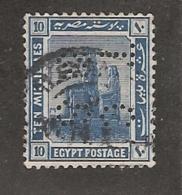 Perfin Perforé Firmenlochung Egypt SG 91 TC&S Thomas Cook And Son - Égypte