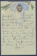 Art Nouveau - BRW 429 - Lady´s Head - Secession Style - Embossed - Illustratori & Fotografie