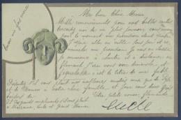 Art Nouveau - BRW 443 - Lady´s Head - Secession Style - Embossed - Illustratori & Fotografie