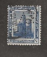 Perfin Perforé Firmenlochung Egypt SG 91 AB E  Anglo Belgian Company Of Egypt Ltd - Égypte