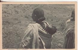 294-Eritrea-Ex Colonia Italiana-Tipi-Costumi-Folklore-Madre Con Bimbo-Piccolo Formato-v.1936 X Reggio Emilia - Eritrea
