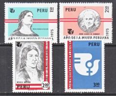 PERU  625-8    **    I W Y   WOMEN'S  YEAR - Peru