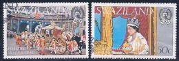 Swaziland, Scott # 279-80 Used Silver Jubilee,1977 - Swaziland (1968-...)