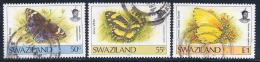 Swaziland, Scott # 608-9,611 Used Butterfly, 1992 - Swaziland (1968-...)