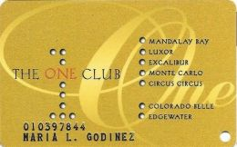 One Club Multi-Casino Slot Card - CPICA 27315 Over Mag Stripe - Embossed With Sticker On Back - Casino Cards