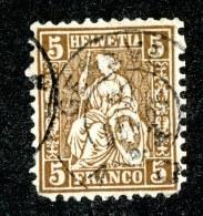 10151  Switzerland 1862  Zumstein #30 (o) Fault  Michel #22c ( Cat. 2.€ ) Offers Welcome! - 1862-1881 Helvetia Assise (dentelés)